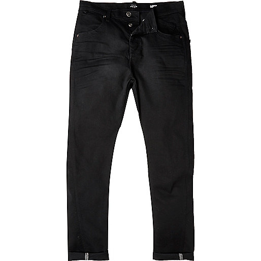 Black Tony slouch taper jeans