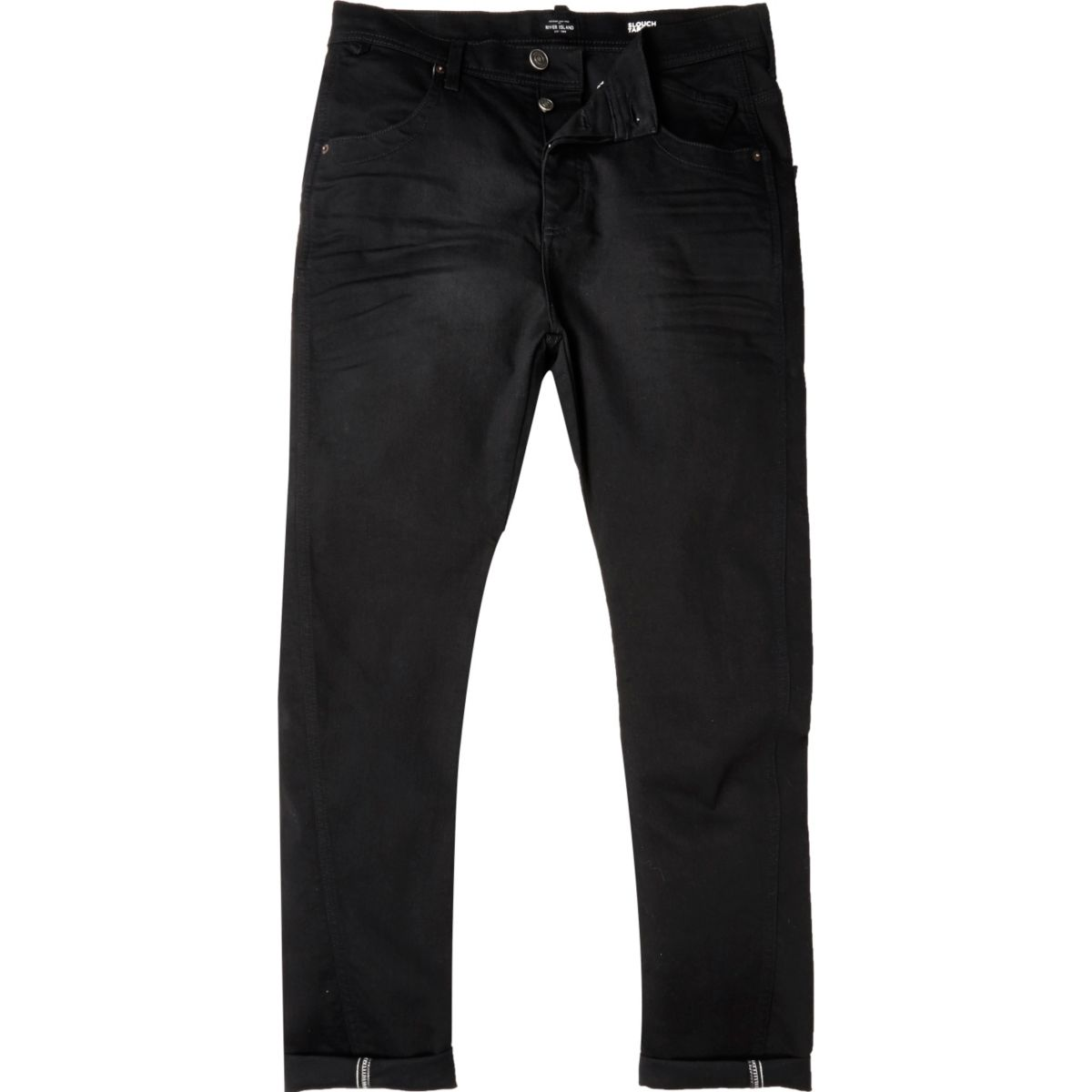 Black Tony slouch taper jeans