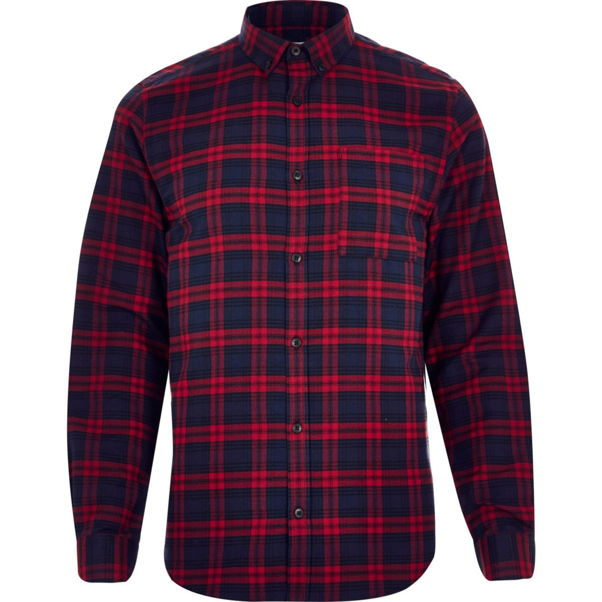 Red check soft flannel shirt