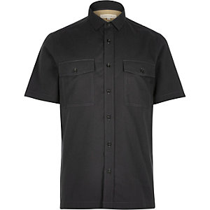 Grey utility short sleeve shirt