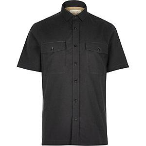 Grey utility short sleeve shirt