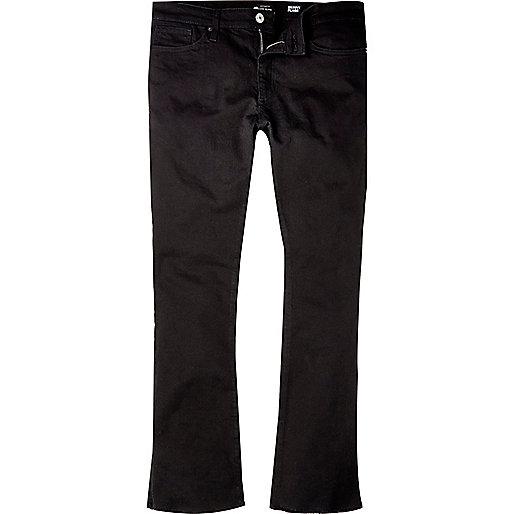 Black raw hem Sid skinny kickflare jeans