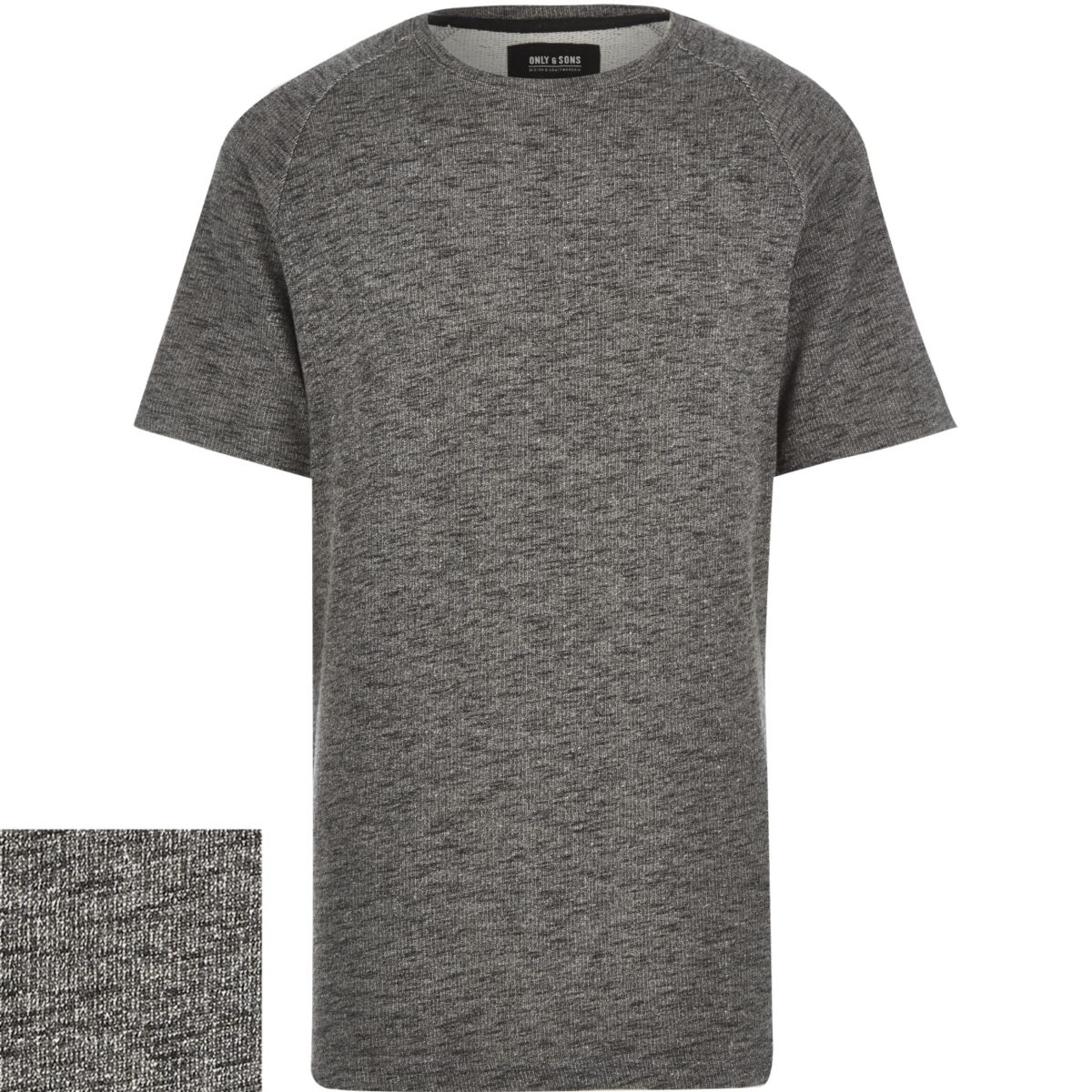 Grey Only & Sons dark grey sweatshirt