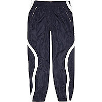 Navy Christopher Shannon panel joggers