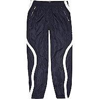 Pantalon de jogging Christopher Shannon bleu marine à empiècements