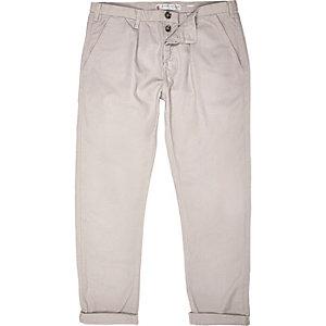 Light grey casual cuffed trousers
