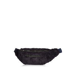 Navy Christopher Shannon faux fur bum bag
