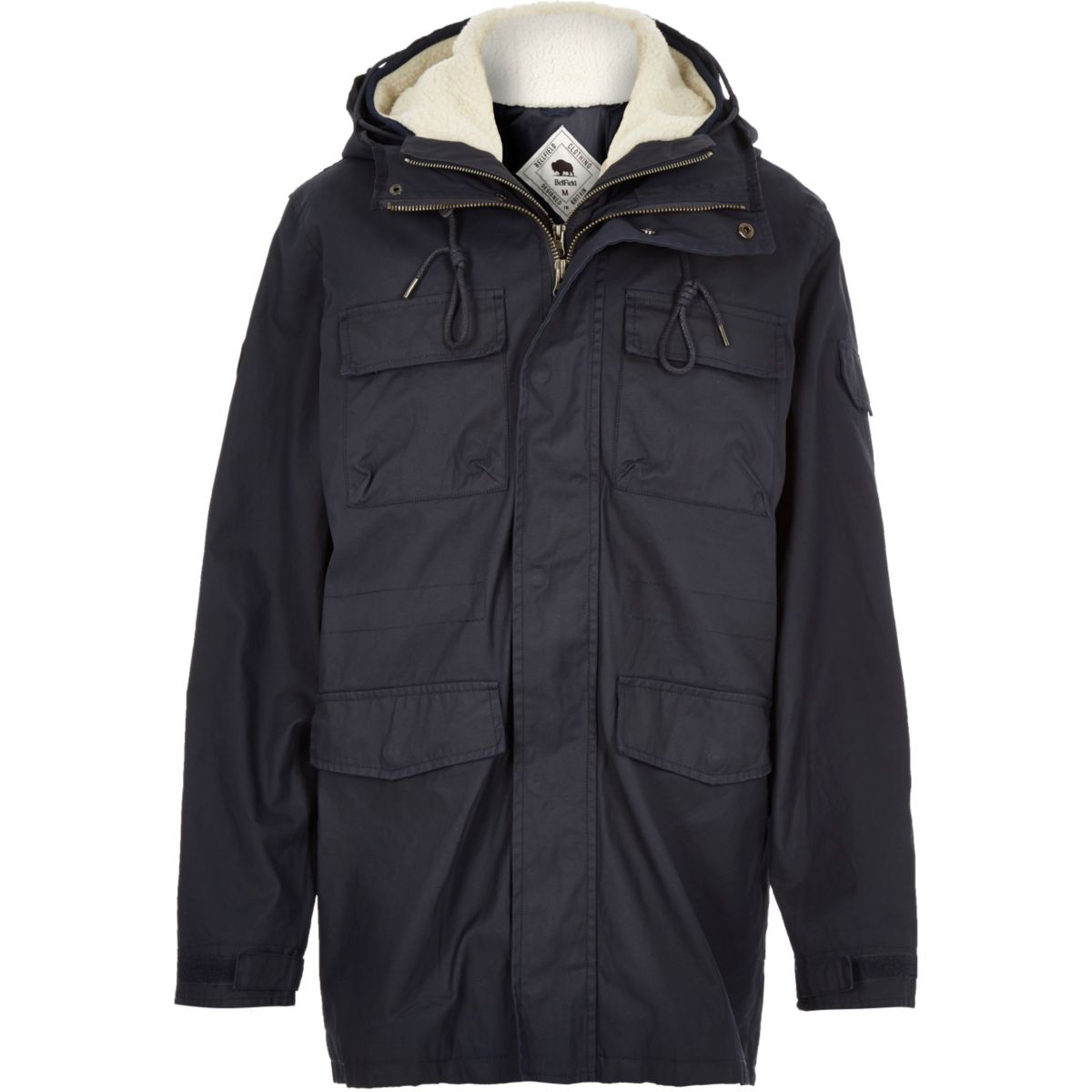 Navy Bellfield 2-in-1 winter coat