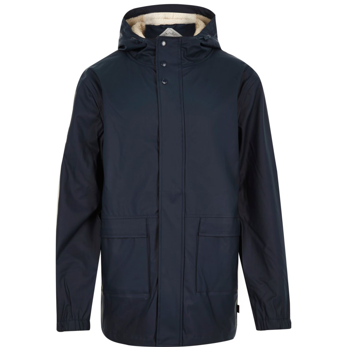 Navy Bellfield waterproof parka winter coat
