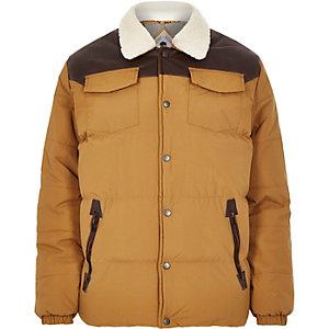 Brown Bellfield padded winter jacket