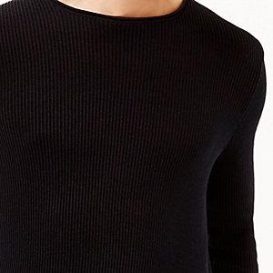 Navy plaited tunic sweater