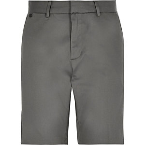 Grey smart stretch bermuda shorts