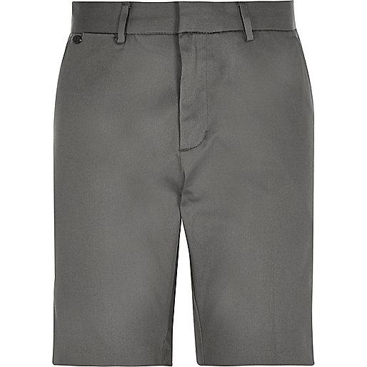 Grey smart stretch bermuda shorts
