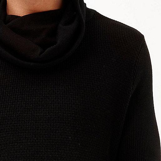 Black cowl neck jumper