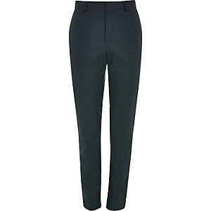Dark green slim fit  tailored trousers