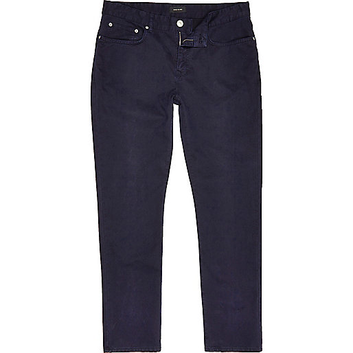 Navy slim fit cotton cords