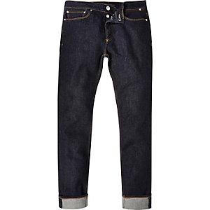 Dark wash rolled up Sid skinny stretch jeans