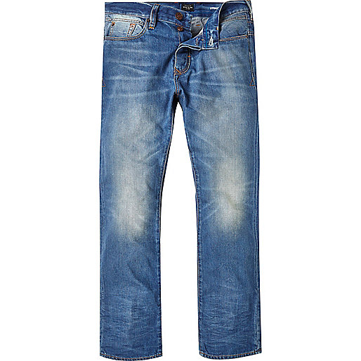 Dean – Mittelblaue Straight Jeans
