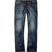 Dark blue wash Dean straight jeans