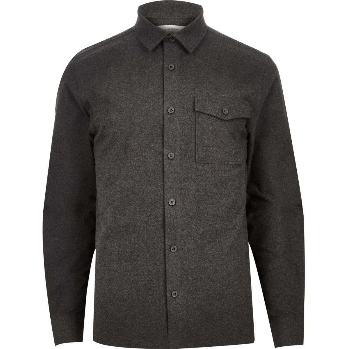 Charcoal grey flannel shirt