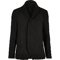 Black boiled wool jacket