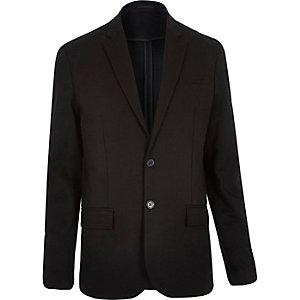 Black jersey skinny blazer