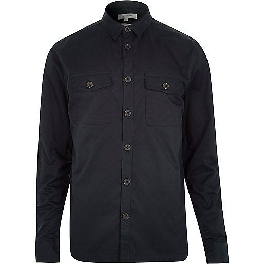 Black Twill Men's Shirts - ShopStyle