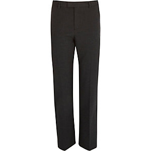 Grey puppytooth slim fit cropped pants