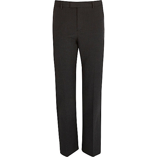 Grey puppytooth slim fit cropped trousers