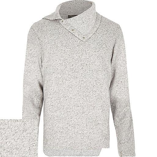 Light grey cowl neck jumper