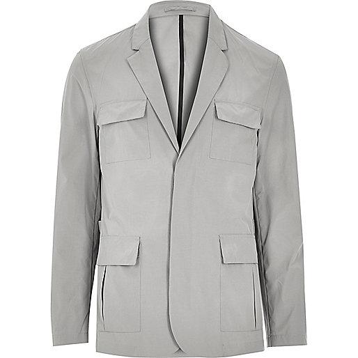 Grey blazer jacket