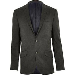 Veste de costume gris foncé cintrée