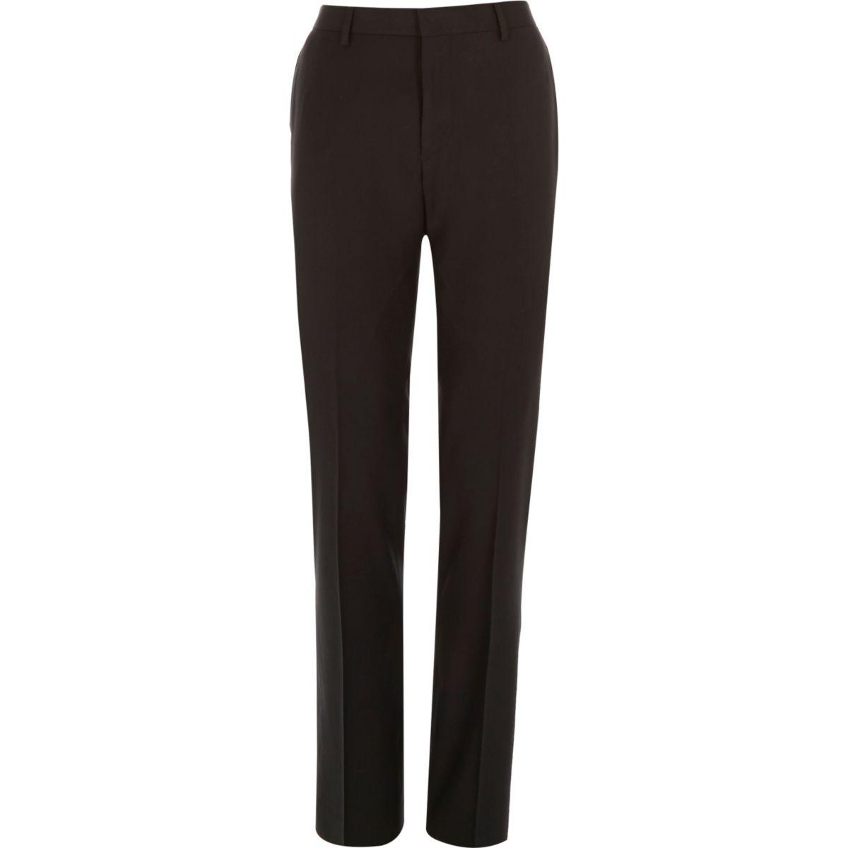 Darkest grey slim suit trousers