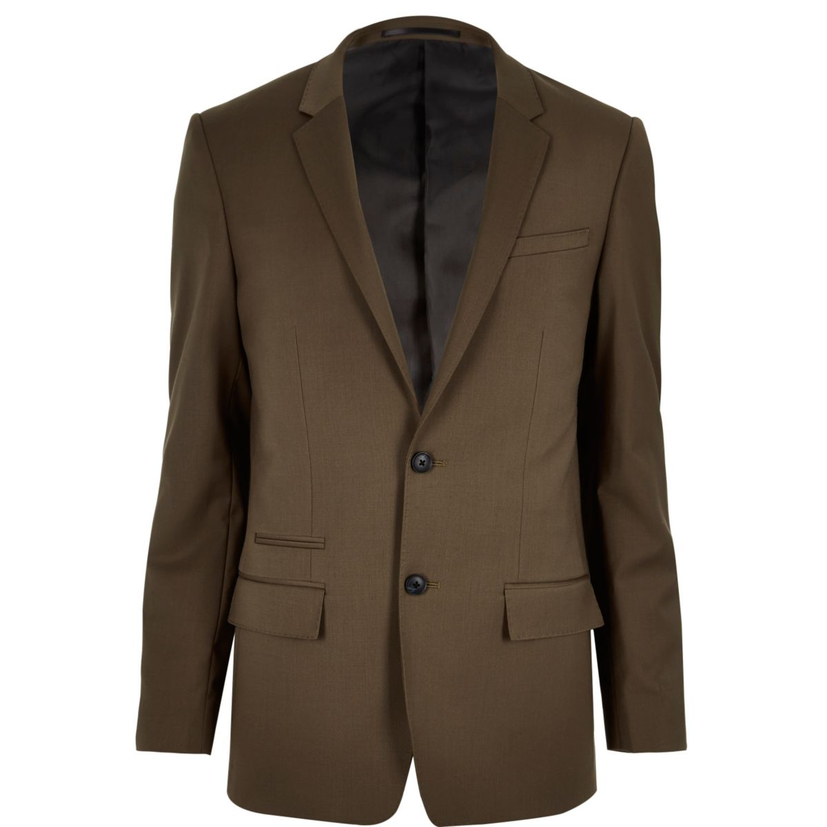 Brown skinny suit jacket