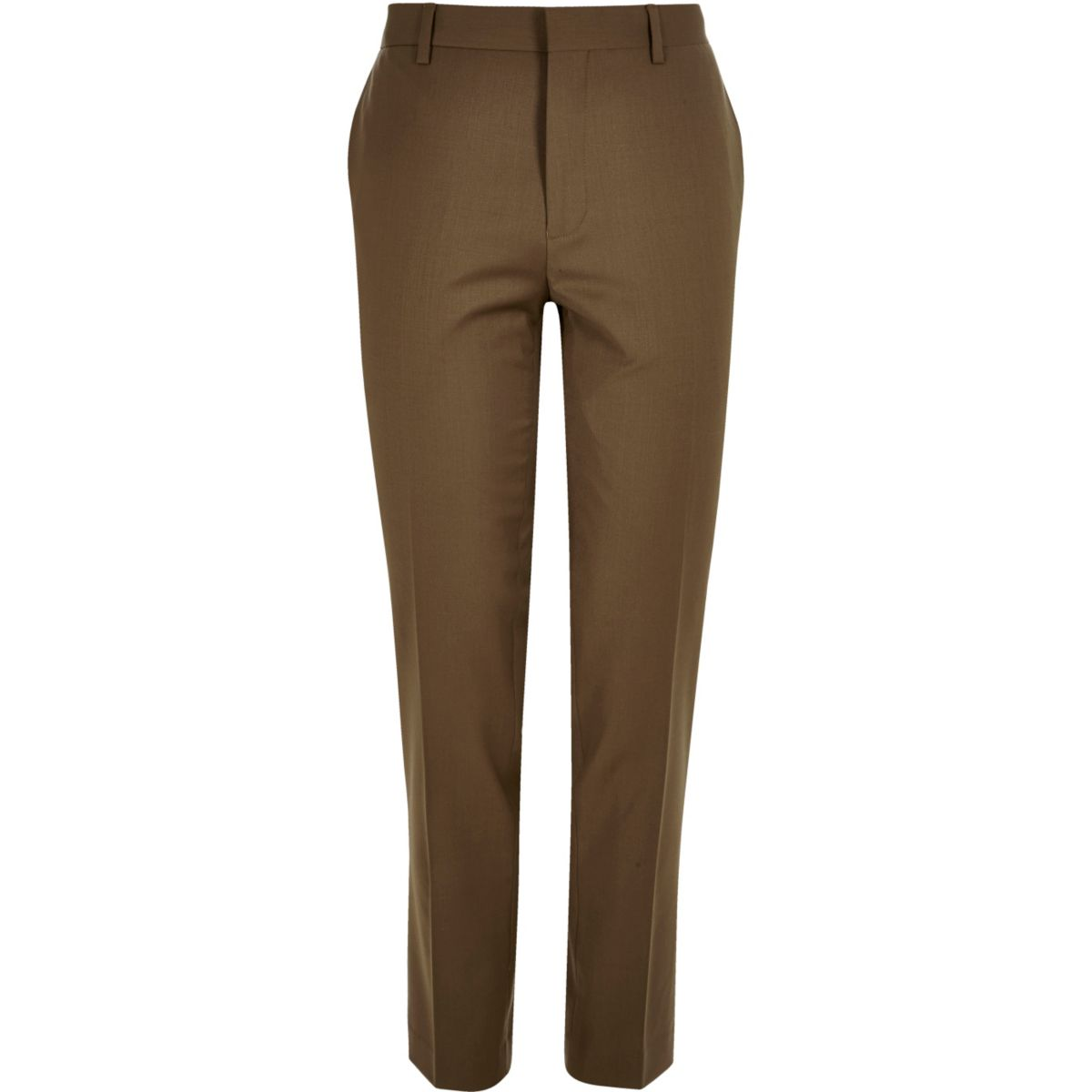 Brown skinny suit trousers