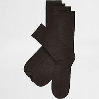 Schwarze Bambussocken, Multipack
