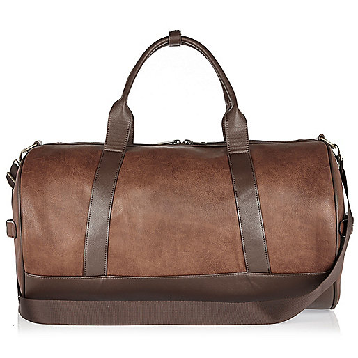 Light brown holdall bag