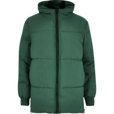 Groen gewatteerde winterjas