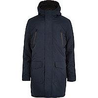 Navy parka winter coat