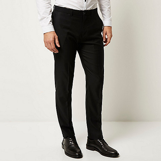 Black smart slim pants