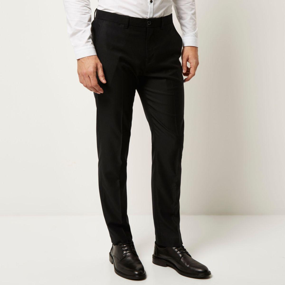 Black smart slim pants