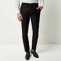 Schwarze elegante Skinny Fit Hose