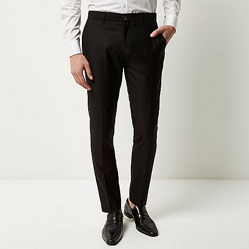 Black smart skinny trousers
