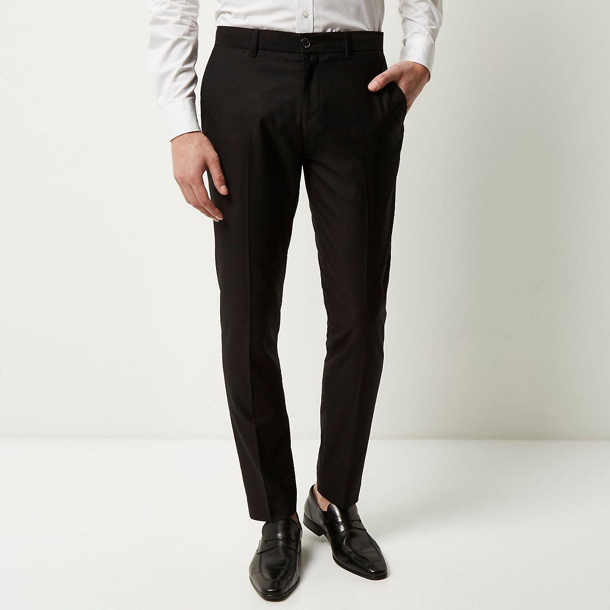 Black smart skinny trousers