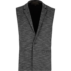 Grey tailored sleeveless blazer