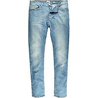 Jean Sid skinny stretch à délavage bleu clair