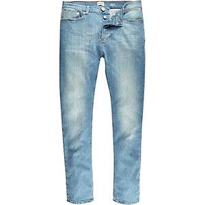 Sid – Skinny Stretch Jeans in Hellblau