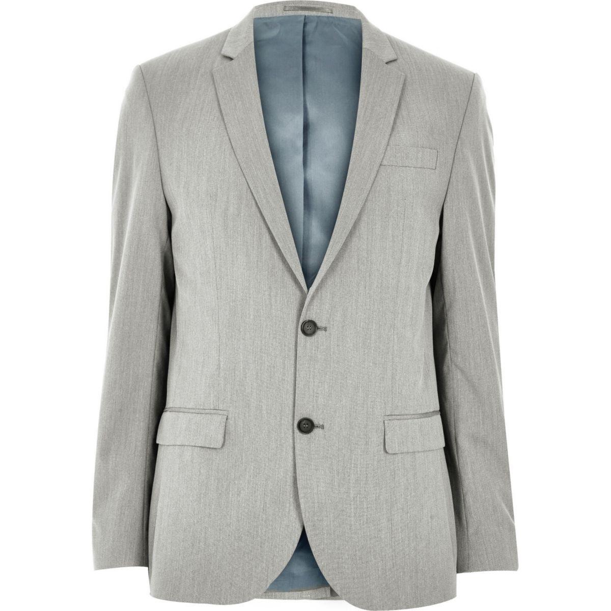 Veste de costume grise cintrée