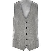 Gilet cintré gris habillé