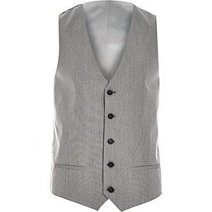 Grey smart slim waistcoat